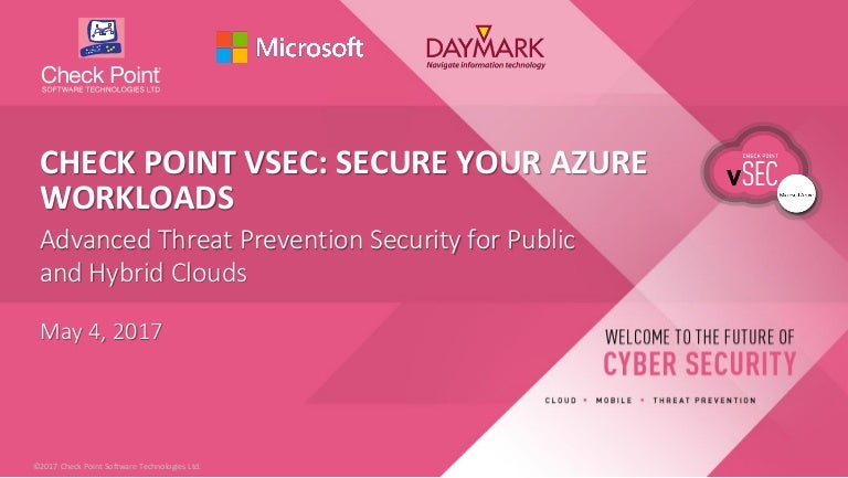 Check Point vSEC for Microsoft Azure Webinar