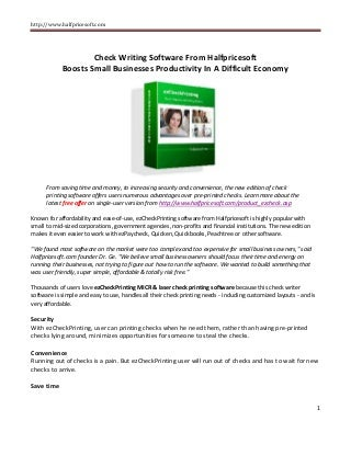 business check printing software free download