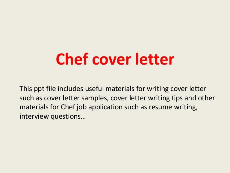 Sample Chef Resume Cover Letter Sample Chef Cover Annamua  Chef Resume Cover Letter