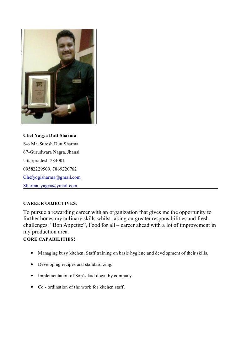 chef yagya resume