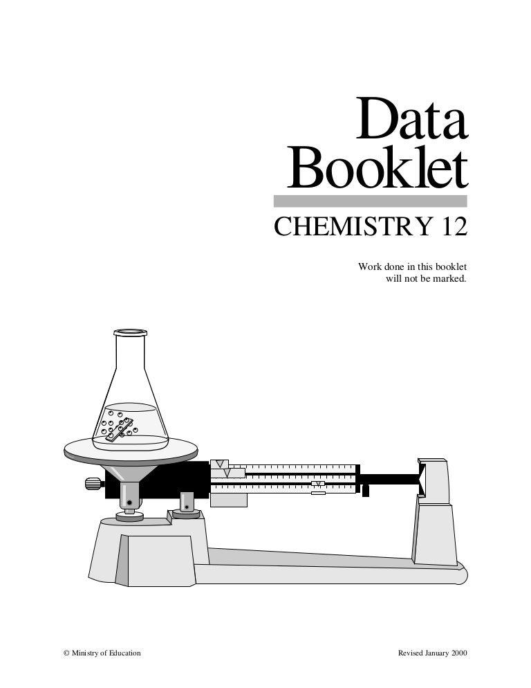 Chem 12 data booklet