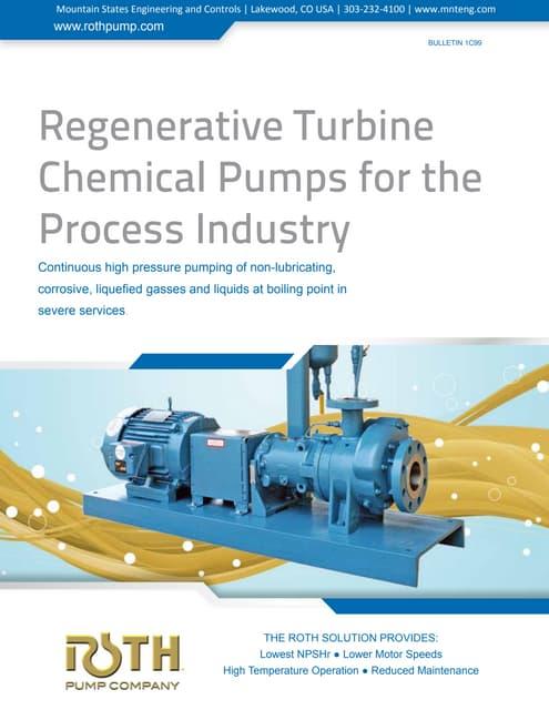 Regenerative Turbine Chemical Process Pumps