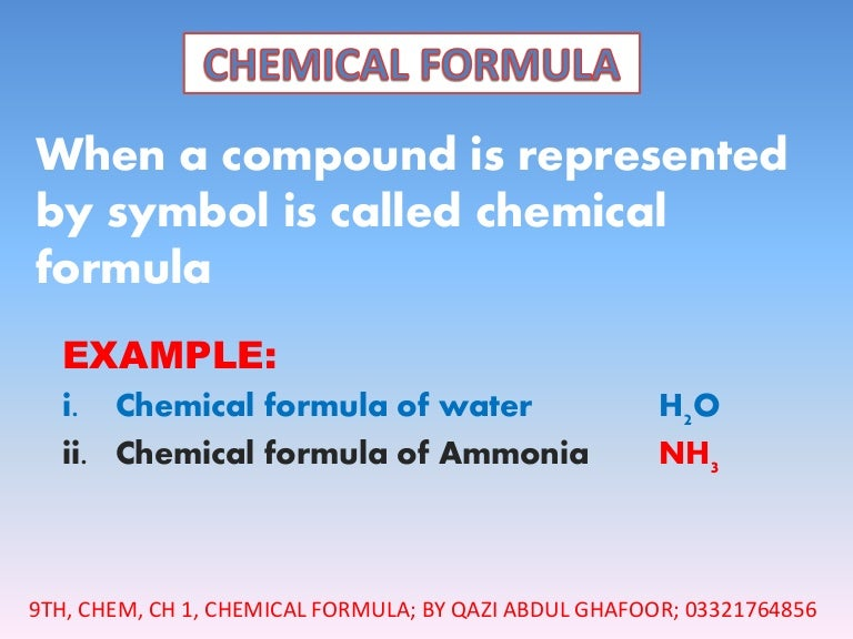 Chemical Formula And How To Write A Chemical Formula