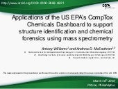 Chemical identification of unknowns in high resolution mass spectrometry using the CompTox Chemicals Dashboard