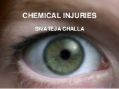 Chemical injuries of the eye