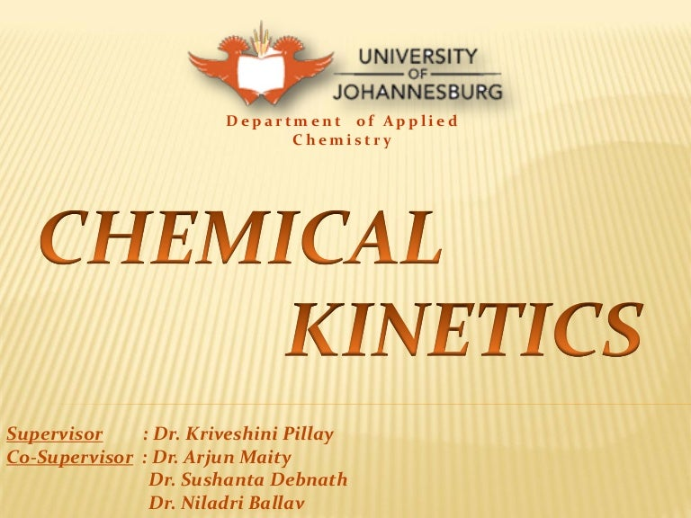Chemical kinetics presentation