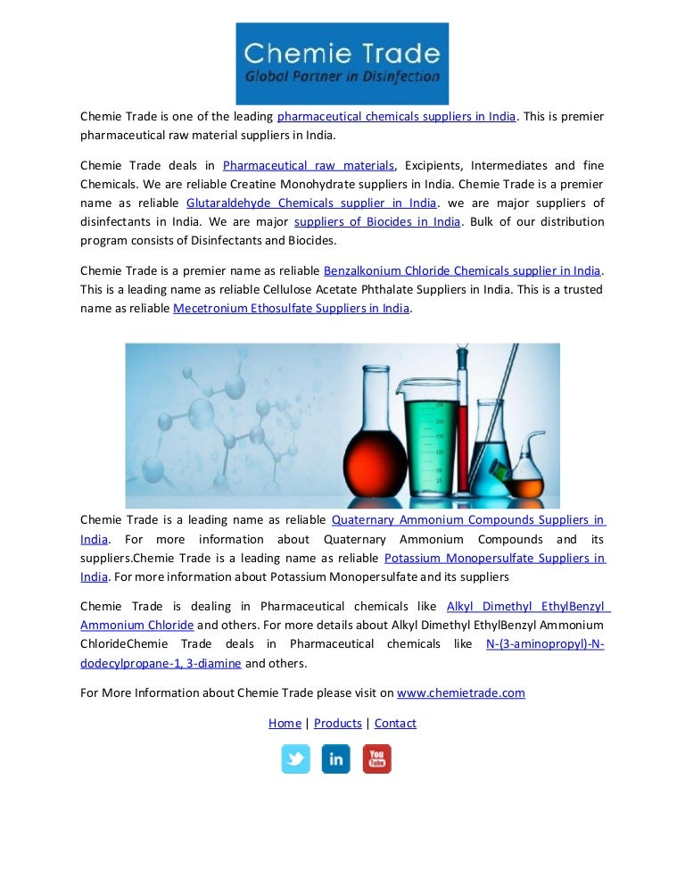 Pharmaceutical Raw Material Suppliers