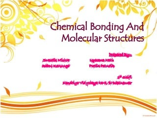 Chemical Bonding and Molecular Structure-class XI