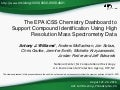 The EPA iCSS Chemistry Dashboard to Support Compound Identification Using High Resolution Mass Spectrometry Data