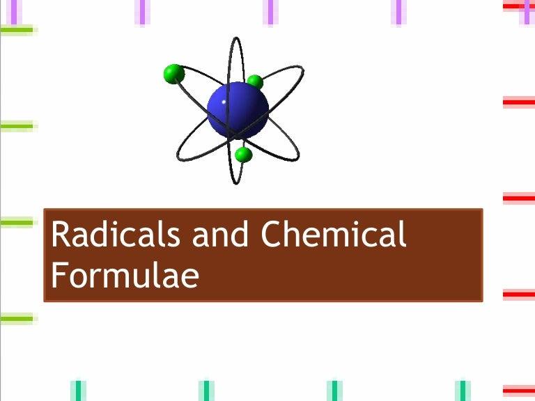 Radicals And Chemical Formulae