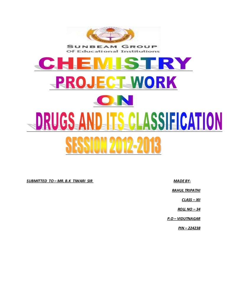 chemistry project work