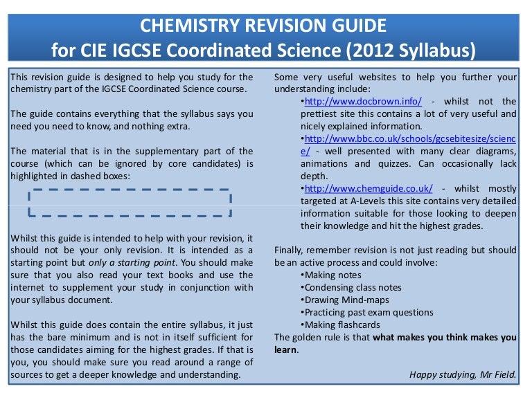 Cambridge IGCSE/® Chemistry Revision Guide
