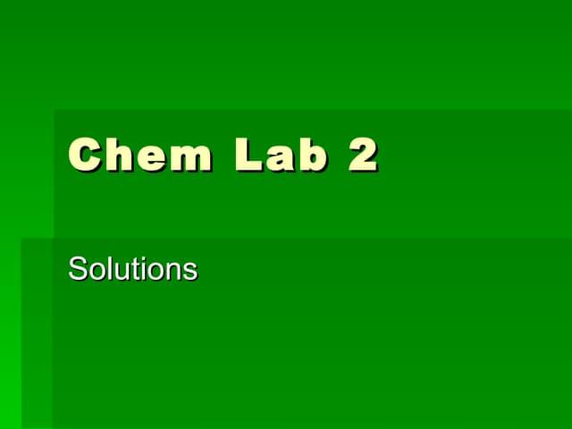 Chemisrty lab # 8