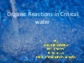 Reactions in Critical Water