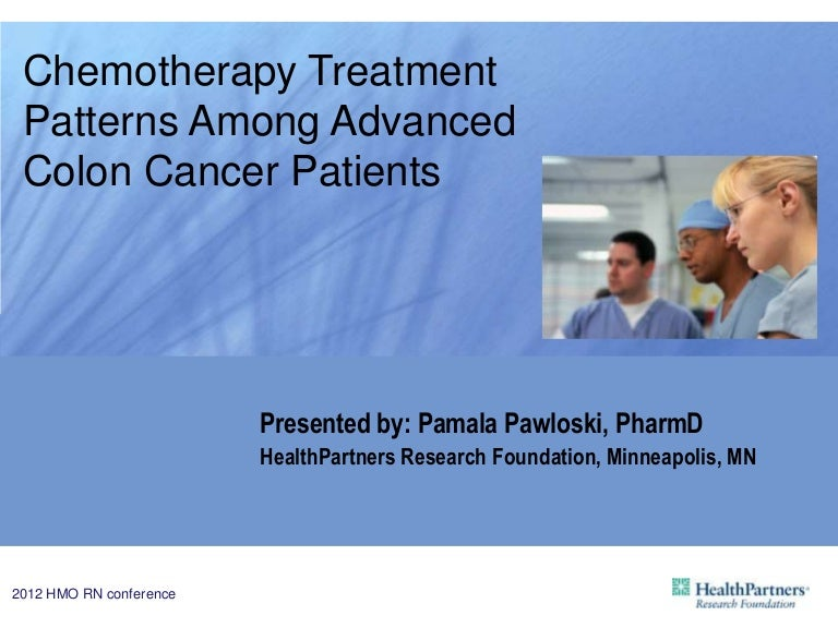Chemotherapy Treatment Patterns Among Advanced Colon Cancer Patients