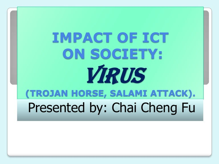 Computer virus(trojan horse & salami attack) | computer virus.
