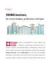 Chennai Real Estate for every budget, preference and type