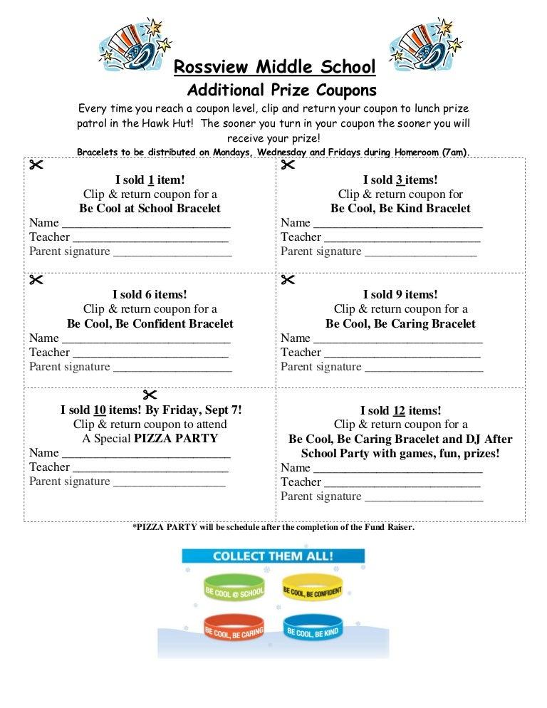 coupon signature fundraising