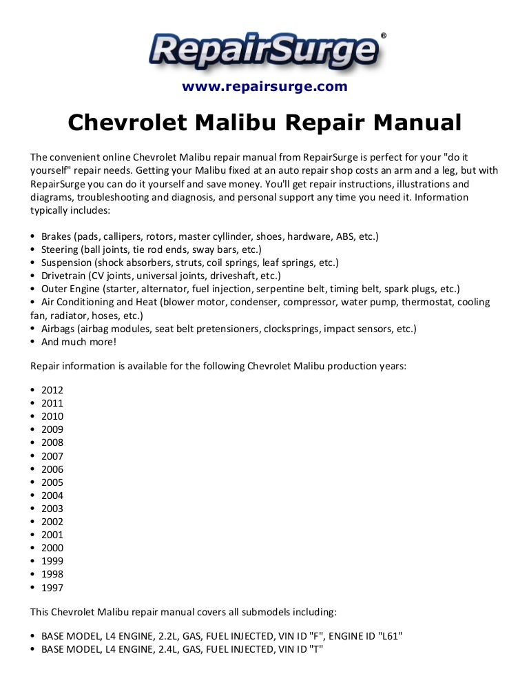 2009 Chevy Malibu Engine Diagram - Wiring Diagrams Lose