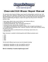 chevolet blazer 1995 2005 repair manual rh slideshare net 94 S10 Blazer 94 S10 Blazer