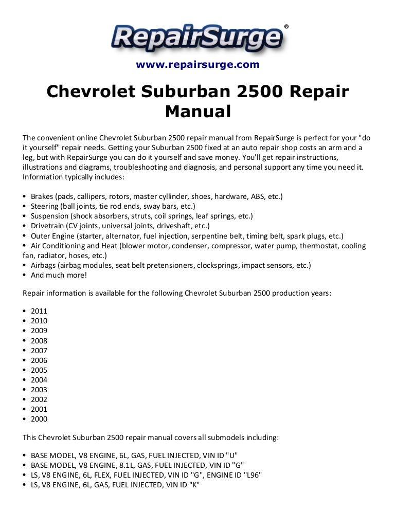 2004 suburban owners manual today manual guide trends sample chevrolet suburban 2500 repair manual 2000 2011 rh slideshare net chevrolet suburban interior 2004 suburban owners solutioingenieria Choice Image