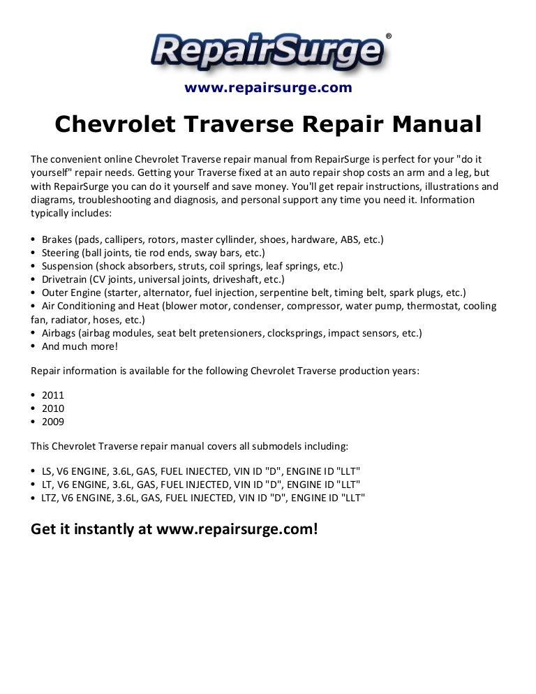 chevrolettraverserepairmanual2009 20112 141115103952 conversion gate02 thumbnail 4?cb=1416048073 chevrolet traverse repair manual 2009 2011 2011 chevy traverse trailer wiring diagram at readyjetset.co