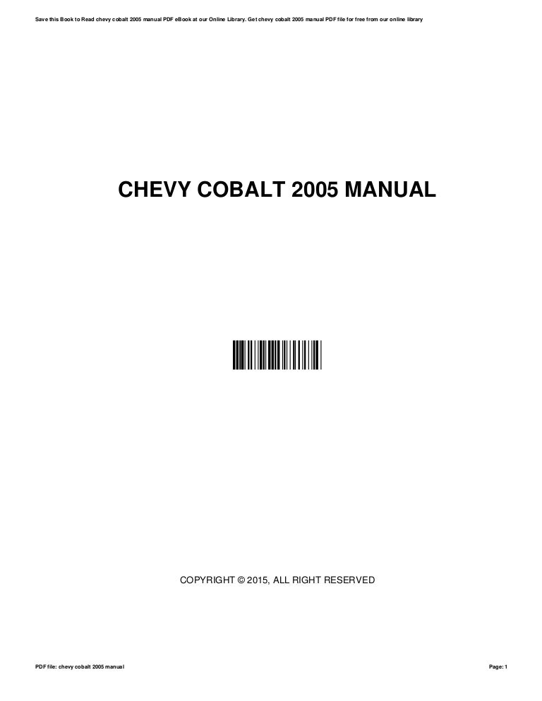 Chevy user manualss online user manuals array chevy cobalt 2005 manual rh slideshare fandeluxe Choice Image