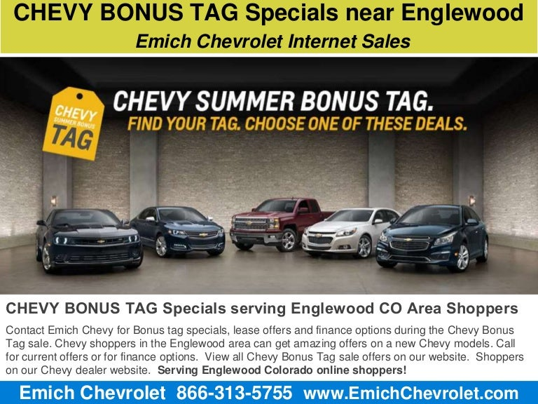 Chevy Bonus Tag Specials near Englewood CO