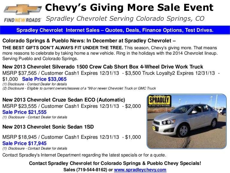 Chevy S Giving More Sale L Colorado Springs Area L Pueblo