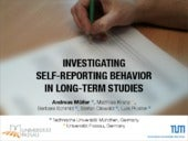 Investigating Self-Reporting Behavior in Long-Term Studies