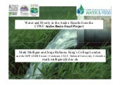 Water and Poverty in the Andes: Results from the CPWF Andes Basin Focal Project