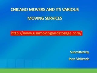 Chicago movers-and-its-various-moving-services