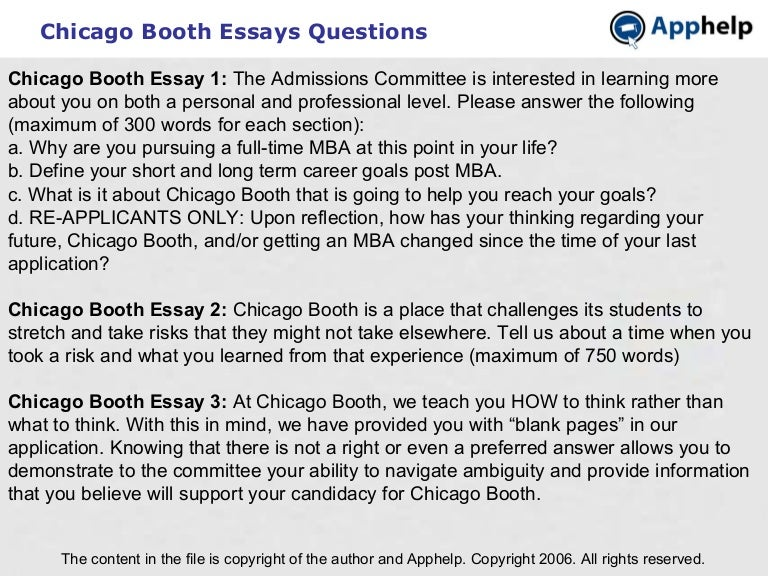 chicago booth risk essay