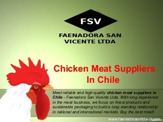 Chicken meat suppliers in chile