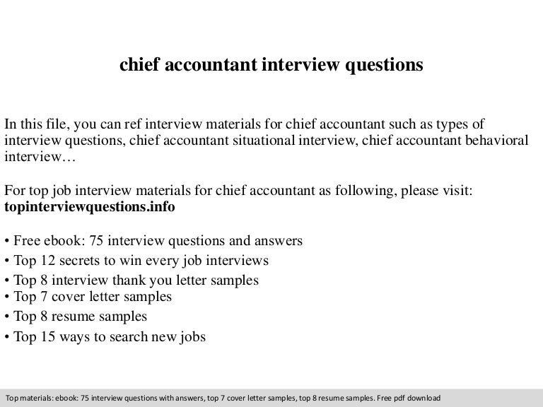 Chief Accountant Cover Letter. Chief Accountant Cover Letter ...