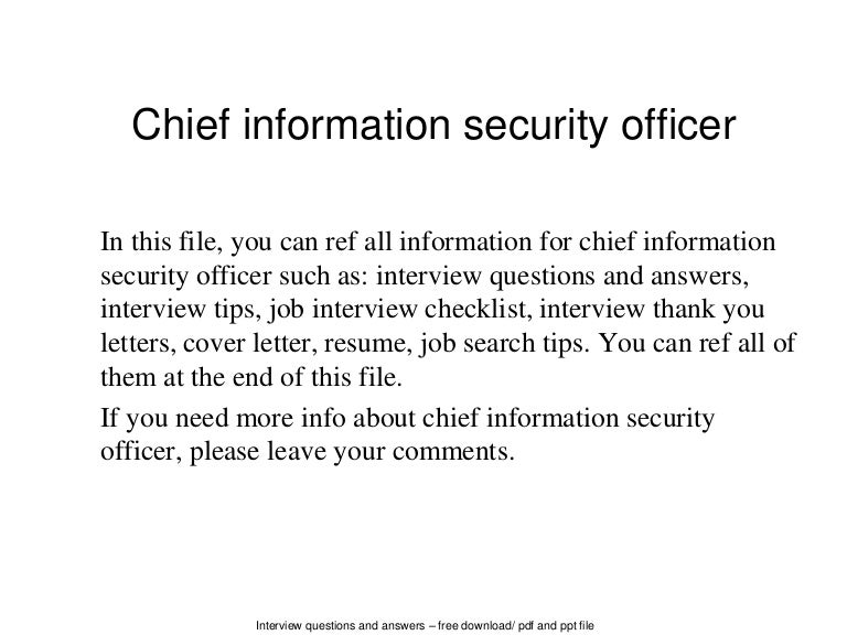 chiefinformationsecurityofficer 140702053949 phpapp01 thumbnail 4jpgcb1404279623 - Ciso Resume
