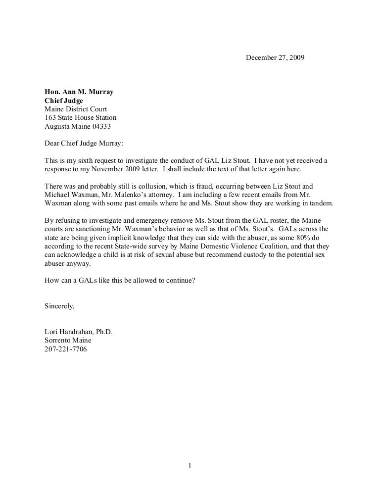 Chief judge letter(1) sixth request