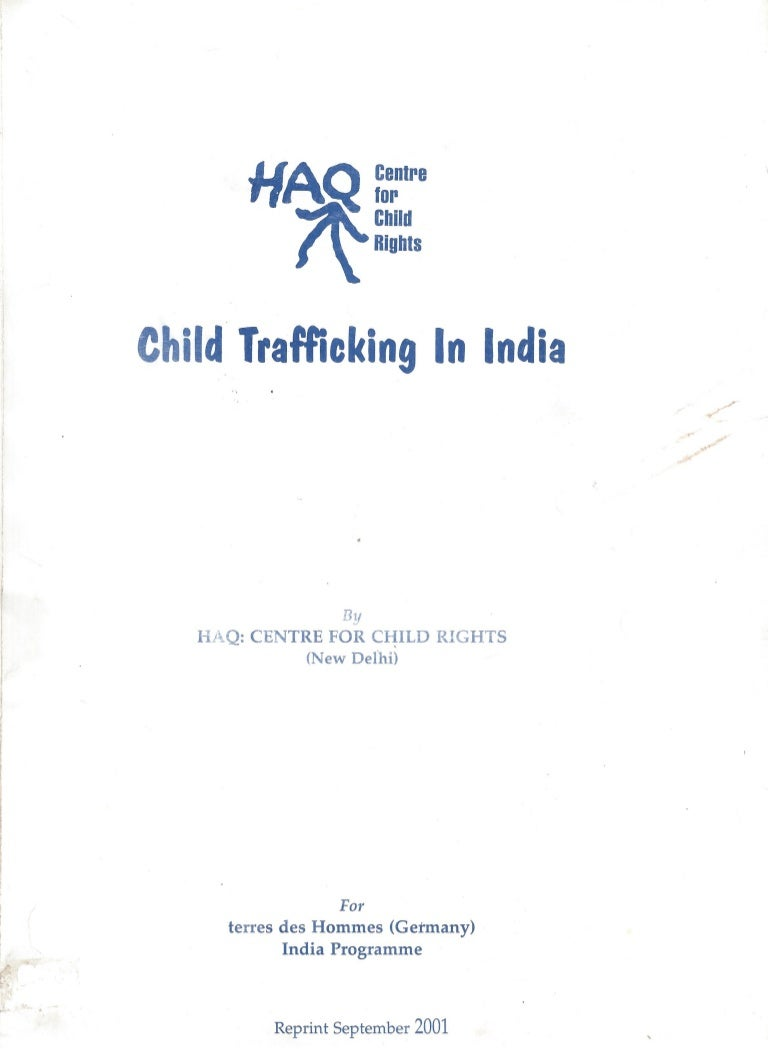 Child Trafficking in India A Situational Analysis