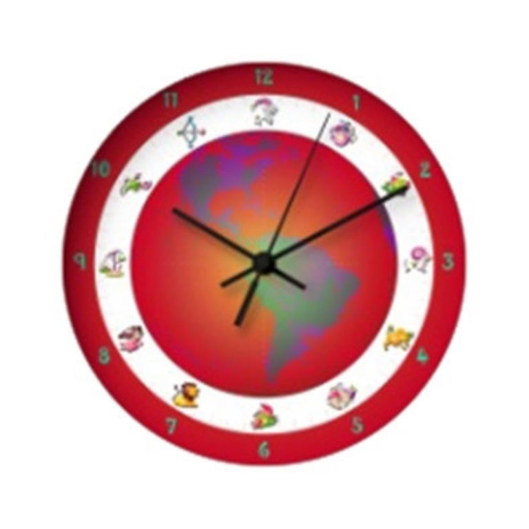 Child Wall Clock With The Astrological Signs 258 Wall Clocks