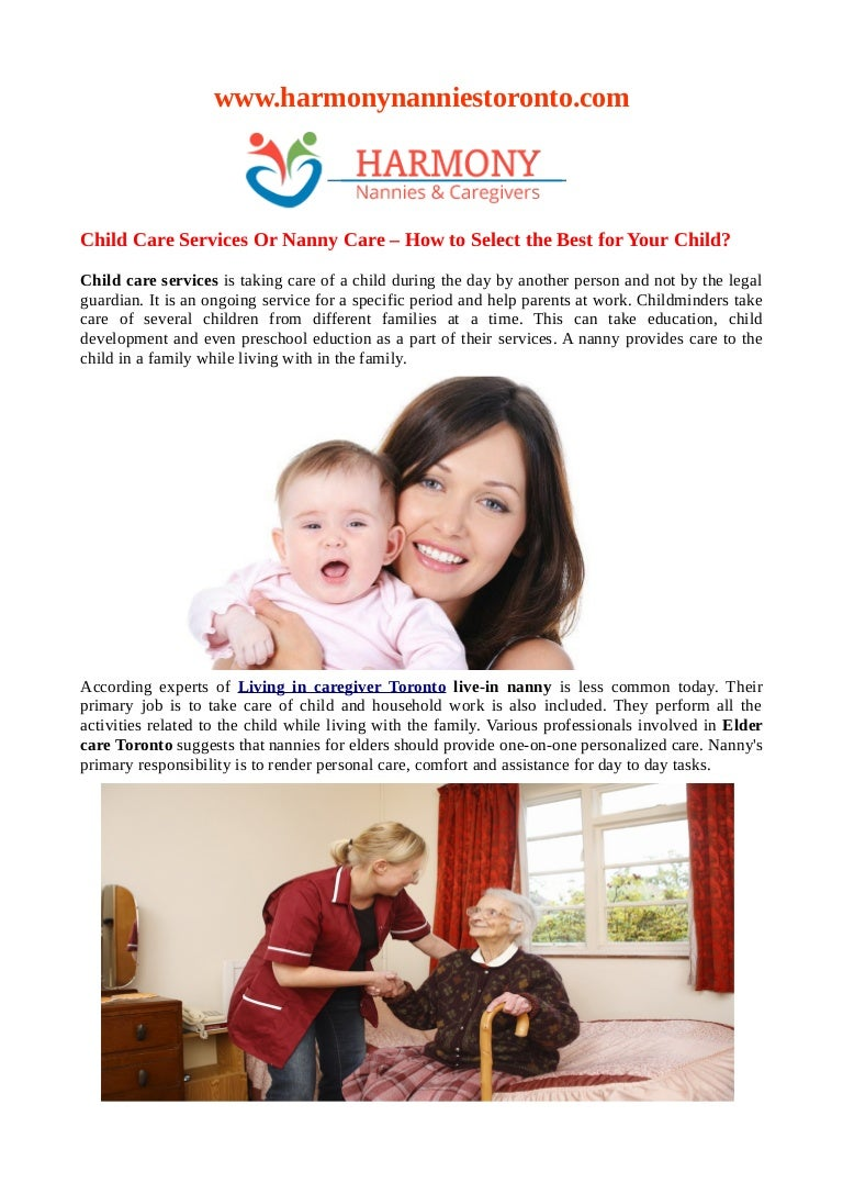 How to Select a Child Care Giver images