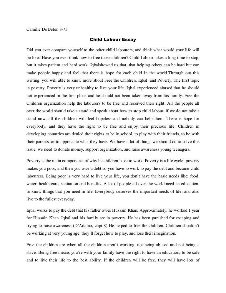 Camille-Child labour essay