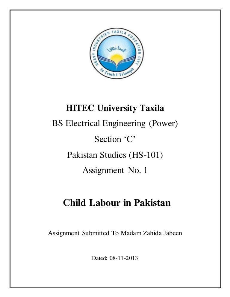 child labour assignment