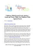 Children with special needs articles   sand and water table for children with special needs