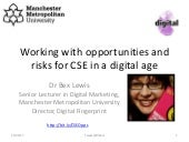 Working with opportunities and risks for CSE in a digital age