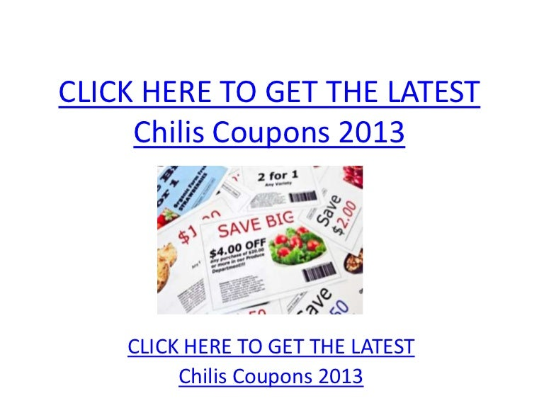 picture regarding Chilis Coupons Printable identify Chilis Discount coupons 2013 - Printable Chilis Coupon codes 2013