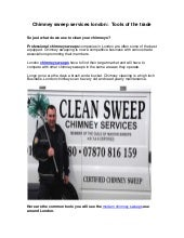 Chimney sweep services london:  Tools of the trade