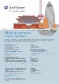 Grant Thornton - Advisory services to retailers in China