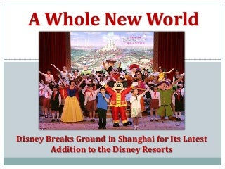 International Marketing Plan for Disney's Expansion into Shanghai