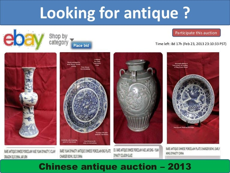 Chinese Antique Auction On Ebay 2013