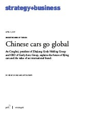 Chinese cars go global
